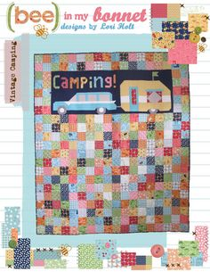 Vintage Camping! quilt and pillow pattern