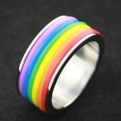 LGBT Rainbow Gay Pride Ring