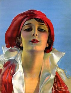 Rolf Armstrong, 1919, vintage, artwork, grapefruit moon.