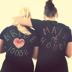 Sissy :) ... my maid of honor of course!  I made all of our shirts!