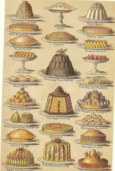 - Victorian Gel- Cookery Mrs Beeton& Book of Household Management, 1861 Victorian Recipes, Victorian Cakes, Victorian Era, Victorian Fashion, Retro Recipes, Vintage Recipes, Vintage Food, Retro Food, Vintage Hats