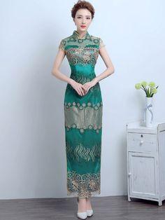 Ankle-Length Qipao / Cheongsam Wedding Dress with Split