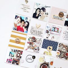 """""""Week 52 done, which includes the last few days of Dec & takes up three spreads. I'm working backwards to catch up with my #projectlife. Cards are from One…"""""""