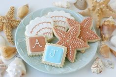 Beach Wedding Cookies » Glorious Treats