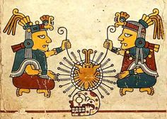 In the Aztec religion, little distinction was made between the world of the gods and the natural order. Hundreds of male and female gods representing rain, fire, etc., were worshiped.