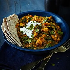 Spinach, Lentil & Pumpkin Curry (I'd leave the chicken out of course)