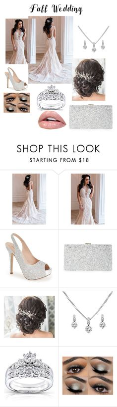 """Wedding"" by ni-rees ❤ liked on Polyvore featuring Lauren Lorraine, Sondra Roberts, Kobelli and fallwedding"