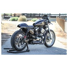 Burly Cafe Solo Seat Tail Section For Harley Sportster 2010-2016 -- (CAFE RACER; LOOKS LIKE TALLER REAR SHOCKS, BIGGER RIMS, SKINNY TIRES