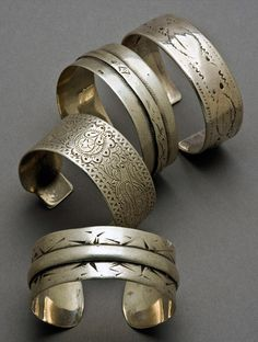 Antique North African Coin Silver Bracelets || Price available upon request
