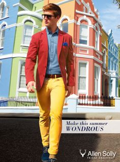 April is the Monday of summers.   Make it wondrous with our colourful collection of chinos.