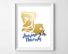 Firesale - Louisiana Tech University Bulldog Gold Foil Digital Print by DollyJuneDesigns on Etsy - digital products resale