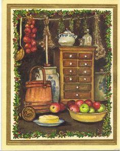A Tasha Tudor Christmas Card.