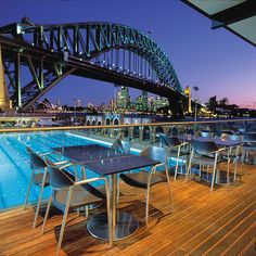 Aqua Dining restaurant is tucked under the Harbour Bridge – so close to the water that enjoying a meal here feels like you're on the harbour itself.