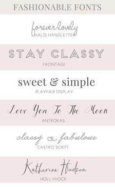 Favorite Fashion Fonts | angieamakes.com