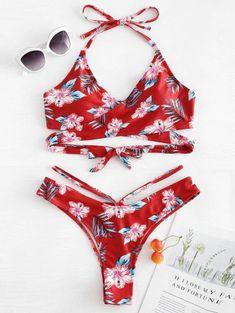 8289fd28e Comprar bikini. Bikinis Detallada con flores y hojas apropiadas para el  verano