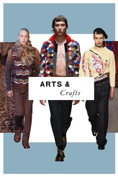 Slick ribbed knits have their place, but Fall '16 brought no shortage of crafty, handmade-looking sweaters in polychromatic palettes. We're falling hard for the palpably DIY quality of these styles.