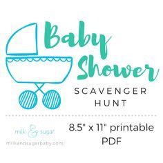 Baby Shower Scavenger Hunt (PDF printable)