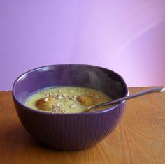 Veganism in progress: Krem z białej fasoli z brokułami i kalafiorem