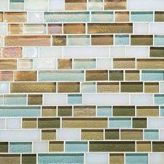 Caribbean Blend Random Linear Mosaic Tile - contemporary - tile - by Daltile Contemporary Kitchen Tiles, Modern Bathroom Design, Coastal Cottage, Coastal Decor, Coastal Interior, Tropical Decor, Coastal Living, Interior Design, Cabin Kitchens