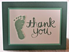 Stamping with Kim: SSINKspiration Blog Hop, Kim Ryden, Stampin' Up!, I'm Here, Watercolor Thank You, Baby Thank Yous