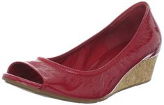 Open-Toed Red Shoes - Cole Haan Women's Air Tali Wedge Pump