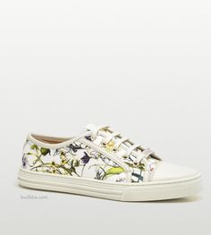 Floral Trends for Spring from Gucci -- California Low Flora Canvas Low-top Sneaker