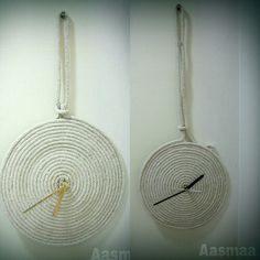 #Handmade #clock #out #of #ropes #wall #hanging #unique #decor #accessories  #customise