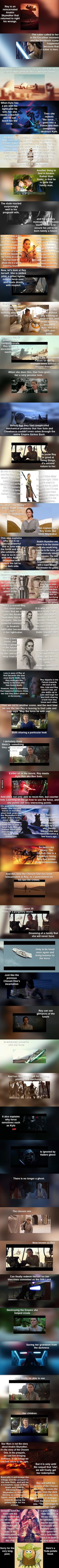 Ever since the release of Star Wars: The Force Awakens, fans of the saga can't stop discussing theories on Rey's true identity. Who are her true parents? How did she end up in Jakku? A fan from 9gag posted his interesting theory that claims Rey is the reincarnated Anakin Skywalker. Check it out: I've read more ridiculous theories than this, so I have to applaud this guy's efforts for coming up with this theory. We've also seen what might be Darth Vader