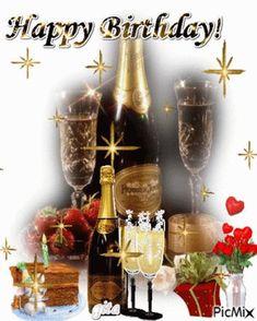 Happy Birthday Drinks, Animated Happy Birthday Wishes, Happy Birthday Greetings Friends, Happy Birthday Cake Pictures, Happy Birthday Wishes Photos, Happy Birthday Wallpaper, Happy Birthday Celebration, Happy Birthday Flower, Happy Birthday Friend