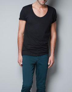 PLAIN T-SHIRT - T-shirts - Basics - Man - ZARA United States $16