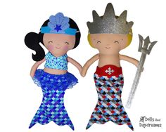 Mermaid Tail Sets Sewing Pattern - Dolls And Daydreams