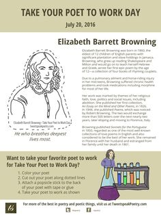 Take Your Poet to Work Day - Elizabeth Barrett Browning