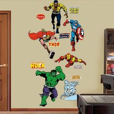 Awesome Superhero Bedroom Decked Out In Fathead Wall Decals - Superhero wall decals application