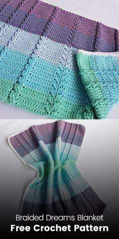 Braided Dreams Blanket Free Crochet Pattern #crochet #crafts #yarn #homedecor #handmade