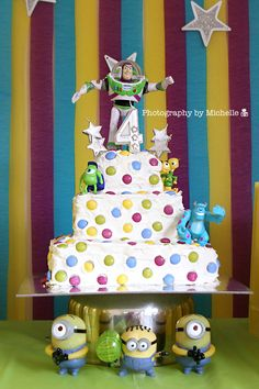 Photography by Michelle: A Buzz Lightyear, Mike & Sully Minions Party! Photography by Michelle: A Buzz Lightyear, Mike & Sully Minions Party! 4th Birthday Parties, Birthday Cakes, Mike And Sully, Cumple Toy Story, Creative Party Ideas, Minion Party, Cake Photography, Buzz Lightyear, Party Cakes