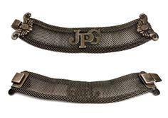 Vintage JEAN PAUL GAULTIER Logo Rustic Mesh Cuff Bracelet €384.28   by VintagEnMode