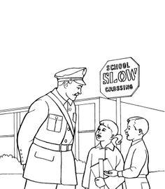 Printables Policeman Warn Kids Coloring Pages