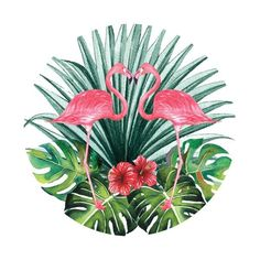Flamingos In Paradise Pop Socket