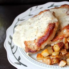 Skillet Pork Chops and Gravy with Fried Potatoes