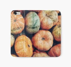 """Pumpkin Style"" iPhone Wallets by wowarts 