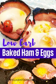 Make this easy breakfast recipe for Easter, Christmas or Mother's Day . Also a good brunch menu item. Can be eaten as a finger food or more proper with knife and fork. Ham Recipes, Brunch Recipes, Low Carb Recipes, Steak Recipes, Potato Recipes, Cookie Recipes, Chicken Recipes, Dinner Recipes, Cabbage Recipes