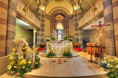 cathedral altar flowers - Google Search