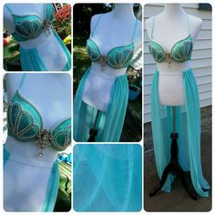 Check out this item in my Etsy shop https://www.etsy.com/listing/249082988/mermaid-queen-bra-top-and-high-waisted  #mermaid #ravebra #halloween #cosplay #costume
