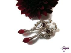 Silver earrings, swarovski earrings, handmade silver earrings,  wire wrapped, gift for her, christmas gift by PetyaJewelry on Etsy