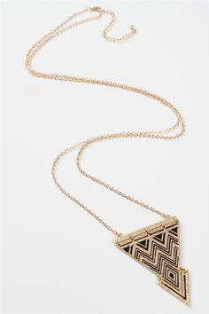 Tribal Triangles Necklace