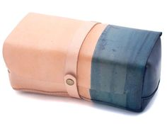 Teranishi Indigo Leather Dopp Kit $200