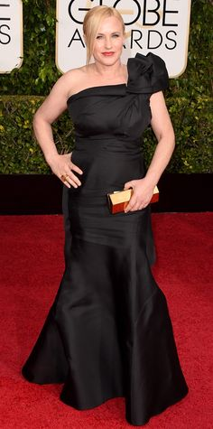 Patricia Arquette in Escada at the Golden Globes 2015 (Jan. 11): Red Carpet Arrivals from #InStyle
