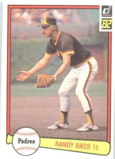 1982 Donruss # 439 Randy Bass San Diego Padres Baseball Card by Donruss. $1.39. 1982 Donruss # 439 Randy Bass San Diego Padres Baseball Card - Shipped In A Protective ScrewDown Display Case!