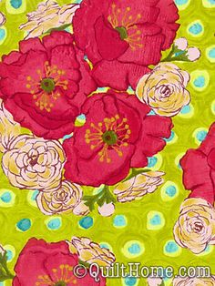 Poppy fabric in lime, by Laura Gunn from Quilthome.com $8.95--think I like this variation a little better