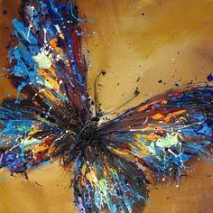 The paint splashed wings have a blurred impact creating a feel of delightful impermanence and movement
